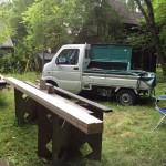作業台と軽トラック♪