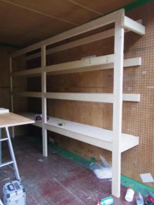 棚を造作します!