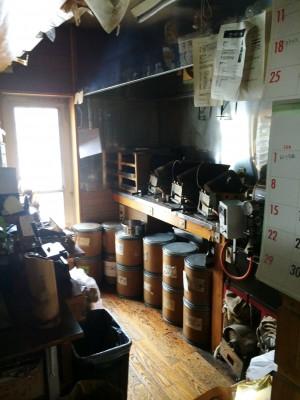 工事前の焙煎室