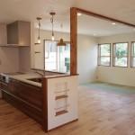 キッチンと畳スペースを引いて見ると…