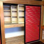 押入れを本棚にしました。