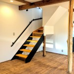 鉄×木の階段