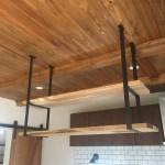 アイアン×木 吊り棚