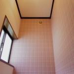 1階のトイレと色違いの壁紙。