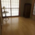 和室の畳の床をフローリングに張り替えました。