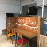 厨房と客席の仕切り壁