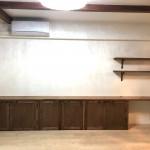 マンションのお宅に造作収納棚を造りました。